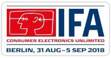 IFA Berlin, 31. August bis 05. September 2018