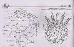 Clube do Crochê: Centro de Mesa (com gráfico)3/3