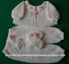 Et CROCHE TRICO POUR PETITS: Pantalons crochet par bebe w / recette