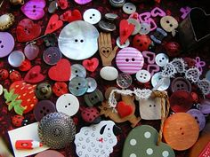 Heart button collection