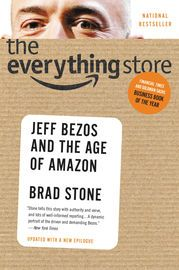"""The Everything Store   http://paperloveanddreams.com/book/622826848/the-everything-store   """"An immersive play-by-play of the company's ascent.... It's hard to imagine a better retelling of the Amazon origin story."""" -- Laura Bennett, New Republic Amazon.com's visionary founder, Jeff Bezos, wasn't content with being a bookseller. He wanted Amazon to become the everything store, offering limitless selection and seductive convenience at disruptively low prices. To do so, he developed a…"""