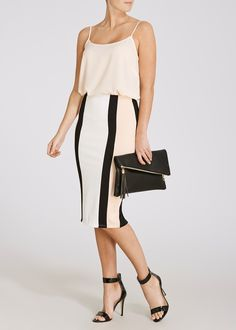 cc09dd12c12c3 Colour Block Panelled Pencil Skirt - Matalan