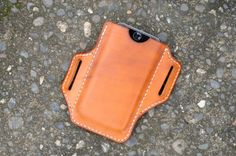 Handmade Leather iPhone Holster Case iPhone 6/6S/7 Saddle Tan