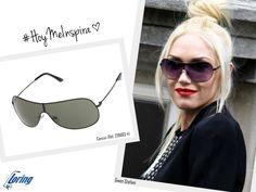 Gafas tipo pantalla. Inspiración: Gwen Stefani.