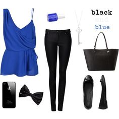 """""""Black & Blue"""" by miasaramaria on Polyvore"""