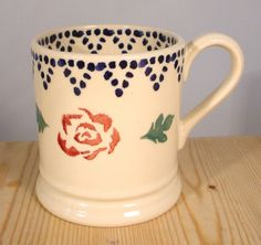Emma Bridgewater Rose & Border 0.5 Pint Mug 1986-1988