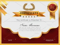 Graceful certificate template Templates Graceful certificate template with Luxury and modern pattern, Qualification certificate blank templa by essense Certificate Layout, Free Printable Certificate Templates, Certificate Background, Certificate Design Template, Pop Up Card Templates, Stationery Templates, Certificate Border, Design Templates, Presentation Templates