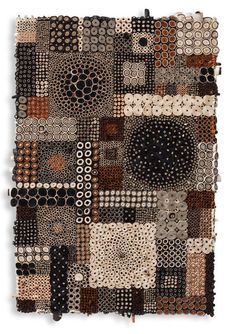 Amy Eisenfeld Genser ~ Black/White/Brown Patchwork (paper and acrylic on canvas)