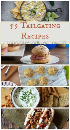 55 Tailgating Recipes - chili, dips, sliders, sandiwches, snacks, appetizers and more for your tailgate or football party! (plus a KitchenAid Giveaway)   cupcakesandkalechips.com