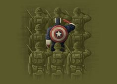 """""""Support Our Troops"""" - Threadless.com - $25.00 #CaptainAmerica #tshirts #threadless"""