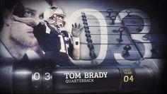 Top 100 of 2014. Voted #3 QB Tom Brady.