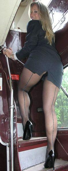 ebony attendant Nude flight