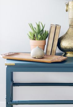 Craigslist Console Instantly Transformed With Paint Claire Brody Designs