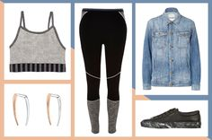 How To Wear Your Workout Leggings Everywhere #refinery29  http://www.refinery29.com/how-to-wear-workout-leggings