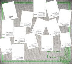 5x7 2014 calendar PNG template