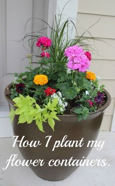 DIY container garden