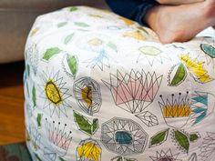 How to Make a Fabric Pouf Ottoman
