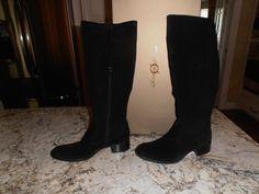 WOMEN'S BORN ABRIELLE CROWN COLLECTION BLACK SUEDE 8M BOOTS #Brn #FashionKneeHigh