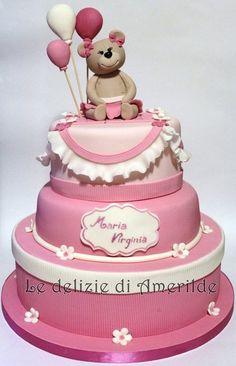 sweet teddy bear - by Amerilde @ CakesDecor.com - cake decorating website