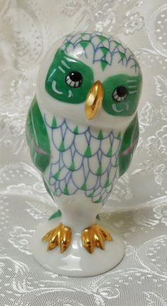 1988 Franklin Mint Porcelain Owl Figurine by KKCollectibleCollage, $8.50