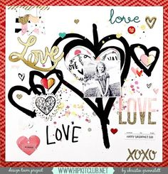 Love is in the air today  Designer @christingronnslett is sharing this awesome LO created with #january2016 kits featuring @cratepaper @maggiehdesign @mymindseyeinc @heidiswapp . Her LO is based on our weekly challenge that you can find on our member forum  #hipkits #hipkitclub #papercrafting #scrapbook #scrapbooking #scrapbooklayout