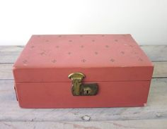 Caixa de jóias vintage e ouro rosa por 22BayRoad no Etsy