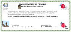 Reconocimientos 2014: Iván Domínguez de la Hoz y Proyecto HABACUC. Grupo CubaNeo Distinción Ángel Valiente