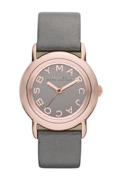 rose gold watch with a leather strap and it's Marc by Marc Jacobs!?  I NEED this in my life.