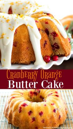 This classic pairing of orange and cranberry is absolutely delightful in this Cranberry Orange Butter Cake. Cranberry Cake, Cranberry Recipes, Cranberry Butter Recipe, Christmas Cooking, Christmas Desserts, Christmas Holidays, Holiday Meals, Christmas Goodies, Christmas Recipes