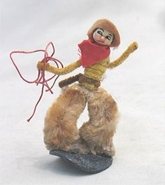 Vintage Pipe Cleaner Chenille Cowboy Miniature Figurine From The West USA Pipe Cleaner Art, Pipe Cleaners, Crafts To Do, Paper Crafts, Chenille Crafts, Magic Treehouse, Miniature Figurines, Hello Dolly, Vintage Holiday