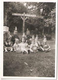 Vintage Photograph Kids Birthday Party by TheTwinkleOfAnEye, via Etsy.