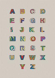 What I like about this type is that it's based off Helvetica, but it gives a completely new meaning and identity. Helvetica is a very universal typeface that could be used in almost all situations. However, this innovation of Helvetica almost restricts it to be using for a child related item, whether it be a book, logo for a childrens program etc.