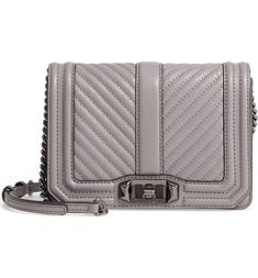 There's a lot to love about this signature quilted crossbody by Rebecca Minkoff, including a supple leather exterior, adjustable chain strap and a spacious interior complete with handy card slots. Backpack Purse, Purse Wallet, Rebecca Minkoff Handbags, Signature Quilts, Chevron Quilt, Last Minute Gifts, Ankle Strap Heels, Quilted Leather, Cool