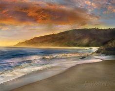 Malibu Sun Art Print