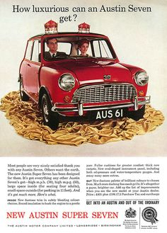 "Austin Super Seven . ""It's altogether a gayer, brighter car"" ! .. when Gay meant Happy"