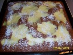 Perníkové řezy s tvarohem. Sweet Cakes, Nutella, French Toast, Deserts, Food And Drink, Pie, Pudding, Breakfast, Recipes