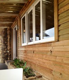 How I don't want the timber cladding to look - too rustic