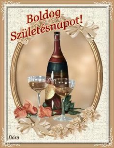 Boldog születésnapot - képeslap férfiaknak - Google keresés Name Day, Happy Birthday Images, Alcoholic Drinks, Birthdays, Table Decorations, Flowers, Google, Image Search, Amigurumi