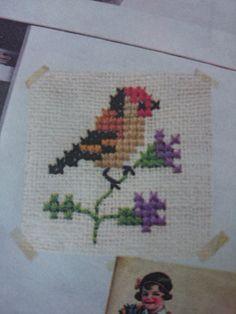embroidery bird | vogel borduren