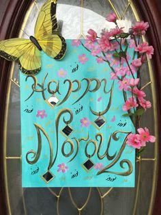 My painting for entrance door;), happy Norouz, Nowrouz