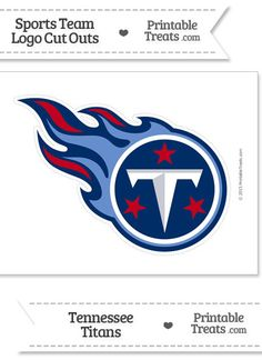 885cbc4c5 Large Tennessee Titans Logo Cut Out from PrintableTreats.com Tennessee  Titans Football, Flag Football
