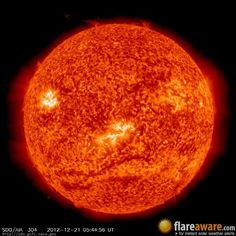 The sun is winking at you because it knows the Mayan Armageddon is upon us.