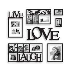 live laugh love one of my favourite sayings! just add family photos and you have a beautiful memory wall!