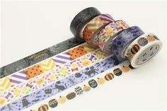 mt Washi Masking Tape deco tape black cat ghost star Happy Halloween 4