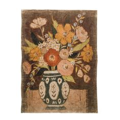 Decorative Paper with Flowers in Vase, Multi Color ©