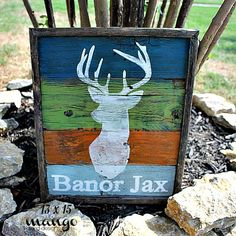 Hand Painted Rustic Wood Sign  Buck / by mangoseedmarketplace, $55.00
