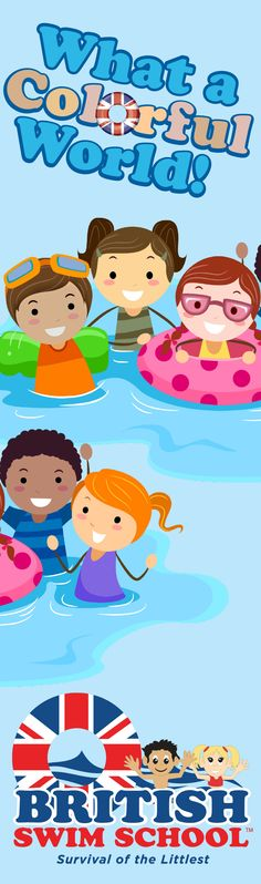 What a colorful world! #britishswimschool #swimlessons #joinus #signupnow #childrensswimlessons #watersafety