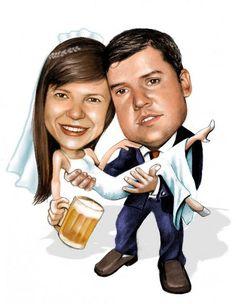 Caricatura casamento - Fabiano Millani
