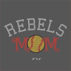5e220107 US $41.3 |Aliexpress.com : Buy 12 Pieces/Lot Rebels Softball Mom Iron On  Rhinestone Sticker Design Bling Bling For DIY Apparel from Reliable iron on  ...