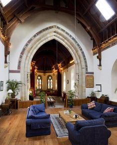 A church turned into a home - these photos are amazing!
